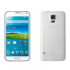 au GALAXY S5 SCL23 shimmery WHITE