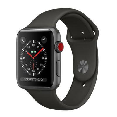 イオシス|Apple Watch Series3 42mm GPS+Cellularモデル MR302J/A A1891【スペースグレイアルミニウムケース/グレイスポーツバンド】