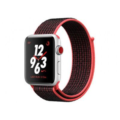 イオシス|Apple Watch Nike+ Series3 42mm GPS+Cellular MQMG2J/A A1859【シルバーアルミニウムケース/ブライトクリムゾン ブラックNikeスポーツループ】