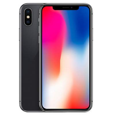 イオシス|iPhoneX A1902 (MQC12J/A) 256GB  スペースグレイ 【国内版 SIMフリー】