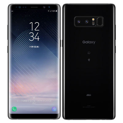 イオシス|【SIMロック解除済】au Galaxy note8 SCV37 Midnight Black