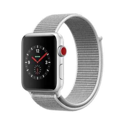 イオシス Apple Watch Series3 42mm GPS+Cellularモデル MQKQ2J/A A1891【シルバーアルミニウムケース/シーシェルスポーツループ】