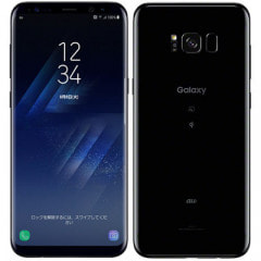 【SIMロック解除済】au SAMSUNG Galaxy S8+ SCV35 Midnight Black