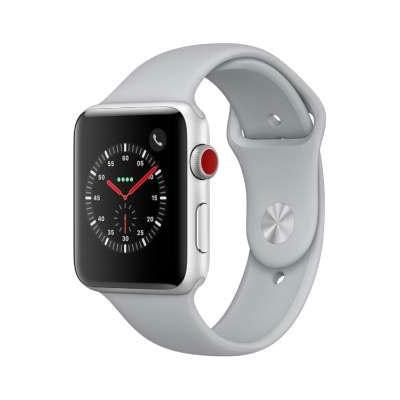 イオシス Apple Watch Series3 42mm GPS+Cellularモデル MQKM2J/A A1891【シルバーアルミニウムケース/フォッグスポーツバンド】