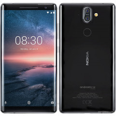 Nokia 8 Sirocco TA-1005 SS HK 6GB+128GB Black【海外版 SIMフリー】