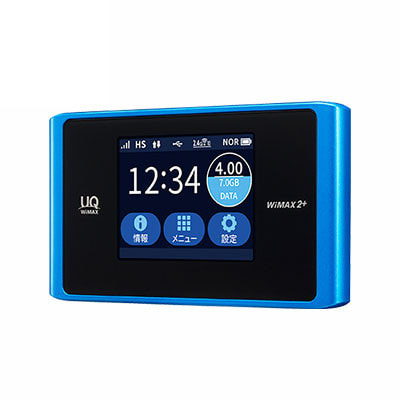 イオシス|【UQWiMAX版】Speed Wi-Fi NEXT WX04 NAD34MLU アクアブルー
