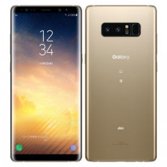【SIMロック解除済】au Galaxy note8 SCV37 Maple Gold