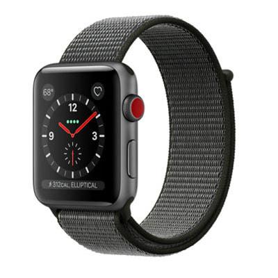 イオシス|Apple Watch Series3 42mm GPS+Cellularモデル MQKR2J/A A1891【スペースグレイアルミニウムケース/ダークオリーブスポーツループ】