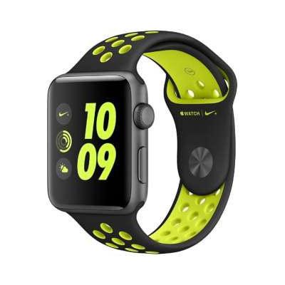 イオシス Apple Watch Series2 Nike+ 42mm MP0L2J/A  [ブラック/ボルトNikeスポーツバンド]