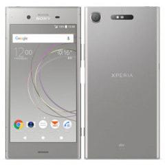 【SIMロック解除済】au Sony Xperia XZ1 SOV36 Warm Silver