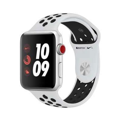 イオシス|Apple Watch Nike+ Series3 42mm GPS+Cellularモデル MQME2J/A A1891【シルバーアルミニウムケース/ピュアプラチナ ブラックNikeスポーツバンド】