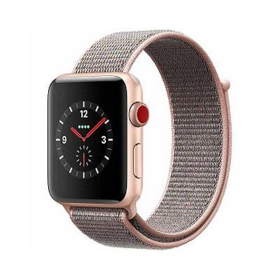 イオシス Apple Watch Series3 42mm GPS+Cellularモデル MQKT2J/A A1891【ゴールドアルミニウムケース/ピンクサンドスポーツループ】