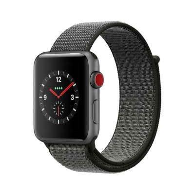 イオシス|Apple Watch Series3 GPS+Cellularモデル 42mm MQKR2J/A 【ダークオリーブスポーツループ】