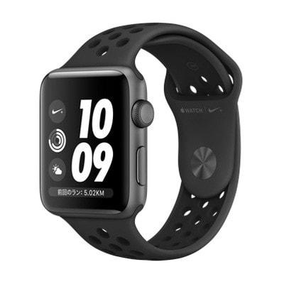 イオシス|Apple Watch Nike+ Series3 42mm GPSモデル MTF42J/A A1859【スペースグレイアルミニウムケース/アンスラサイト ブラックNikeスポーツバンド】