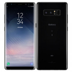 【SIMロック解除済】au Galaxy note8 SCV37 Midnight Black