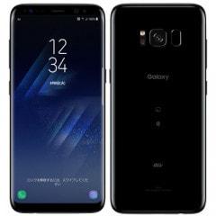 【SIMロック解除済】au Galaxy S8 SCV36 Midnight Black