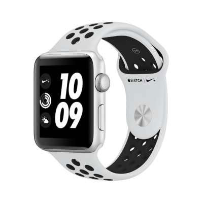 イオシス|Apple Watch Nike+ Series3 42mm GPSモデル MQL32J/A A1859【シルバーアルミニウムケース/ピュアプラチナ ブラックNikeスポーツバンド】