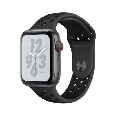 イオシス|Apple Watch Nike+ Series4 44mm GPS+Cellularモデル MTXM2J/A A2008【スペースグレイアルミニウムケース/アンスラサイト ブラックNikeスポーツバンド】