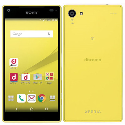イオシス 【SIMロック解除済】docomo Xperia Z5 Compact SO-02H Yellow