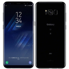 【SIMロック解除済】 au SAMSUNG Galaxy S8+ (Plus) SCV35 Midnight Black