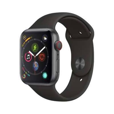 イオシス|Apple Watch Series4 44mm GPS+Cellularモデル MTVU2J/A A2008【スペースグレイアルミニウムケース/ブラックスポーツバンド】