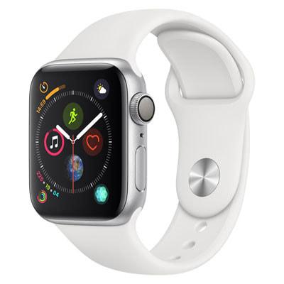 イオシス|Apple Watch Series4 40mm GPSモデル MU642J/A A1977【シルバーアルミニウムケース/ホワイトスポーツバンド】