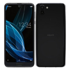 SHARP 【SIMロック解除済】【ネットワーク利用制限▲】SoftBank AQUOS R2 706SH Premium Black
