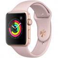 Apple Watch Series3 42mm GPSモデル MQL22J/A A1859【ゴールドアルミニウムケース/ピンクサンドスポーツバンド】