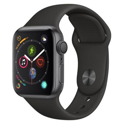 イオシス|Apple Watch Series4 40mm GPSモデル MU662J/A A1977【スペースグレイアルミニウムケース/ブラックスポーツバンド】