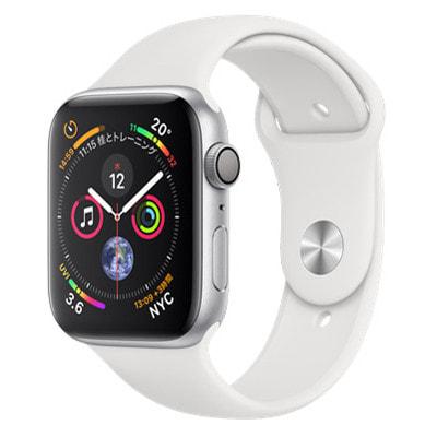 イオシス Apple Watch Series4 44mm GPSモデル MU6A2J/A A1978【シルバーアルミニウムケース/ホワイトスポーツバンド】