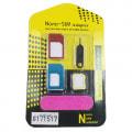 nanoSIM 変換アダプター 5点セット SIMピンセット 【nanoからmicro/nanoからスタンダード/microからスタンダード】