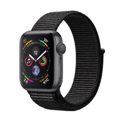 イオシス|Apple Watch Series4 40mm GPSモデル MU672J/A A1977【スペースグレイアルミニウムケース/ブラックスポーツループ】