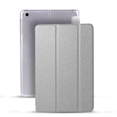 イオシス 【スリープ機能対応】 iPadmini4用スマートカバー 【背面保護ケース付】 シルバー