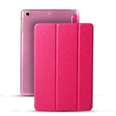 イオシス|【スリープ機能対応】 iPadmini4用スマートカバー 【背面保護ケース付】 ローズレッド