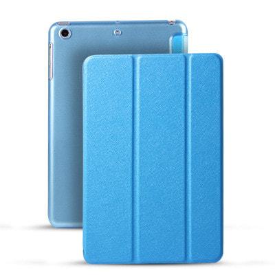 イオシス|【スリープ機能対応】 iPadmini5用スマートカバー 【背面保護ケース付】 ブルー