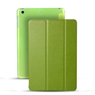 イオシス|【スリープ機能対応】 iPadmini5用スマートカバー 【背面保護ケース付】 グリーン