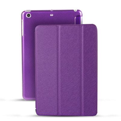 イオシス|【スリープ機能対応】 iPadmini5用スマートカバー 【背面保護ケース付】 パープル
