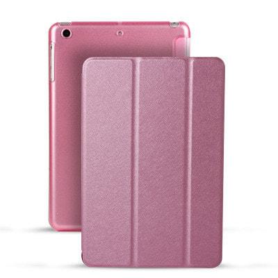 イオシス|【スリープ機能対応】 iPadmini5用スマートカバー 【背面保護ケース付】 ピンク