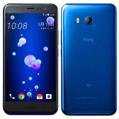 【SIMロック解除済】au HTC U11 HTV33 サファイア ブルー