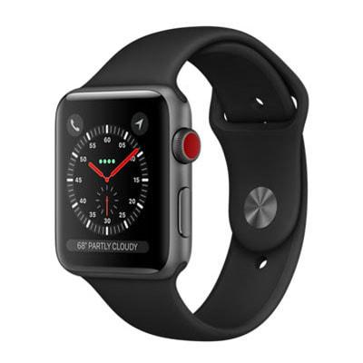 イオシス|Apple Watch Series3 42mm GPS+Cellularモデル MQKN2J/A A1891【スペースグレイアルミニウムケース/ブラックスポーツバンド】