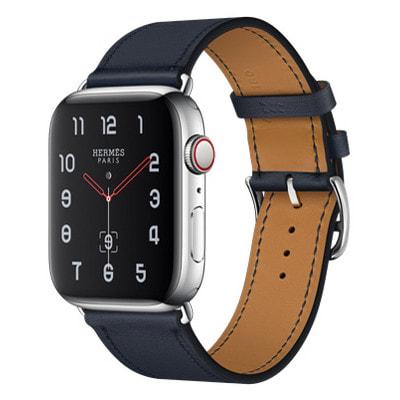 イオシス|Apple Watch Hermes Series4 44mm GPS+Cellularモデル MU772J/A A2008【ステンレススチールケース/シンプルトゥール ヴォー・スウィフト(ブルーインディゴ)レザーストラップ】