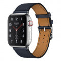 Apple Watch Hermes Series4 44mm GPS+Cellularモデル MU772J/A A2008【ステンレススチールケース/シンプルトゥール ヴォー・スウィフト(ブルーインディゴ)レザーストラップ】