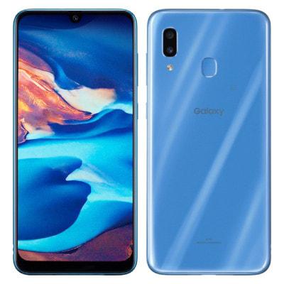 イオシス Galaxy A30 SCV43 (SCV43SLV) ブルー【J:COM版 SIMFREE】