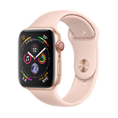 イオシス|Apple Watch Series4 GPS+Cellularモデル 44mm MTVW2J/A 【ゴールドアルミニウム/ピンクサンドスポーツバンド】
