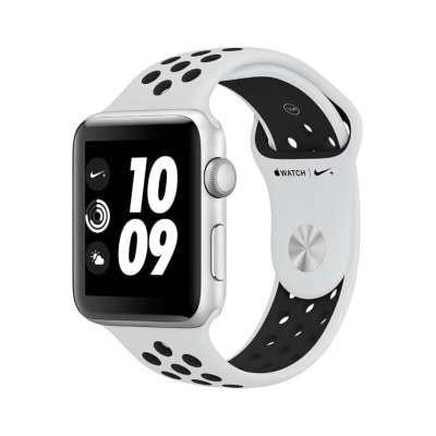イオシス|Apple Watch Nike+ Series3 GPS 42mm MQL32J/A [ピュアプラチナ/ブラックNikeスポーツバンド]