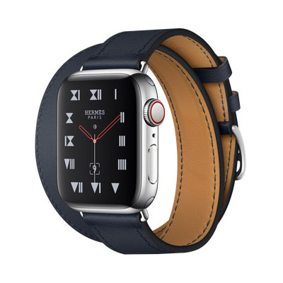 イオシス Apple Watch Hermes Series4 40mm GPS+Cellularモデル MU722J/A A2007【ステンレススチールケース/ドゥブルトゥール ヴォー・スウィフト(ブルーインディゴ)レザーストラップ】