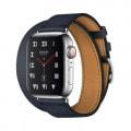Apple Watch Hermes Series4 40mm GPS+Cellularモデル MU722J/A A2007【ステンレススチールケース/ドゥブルトゥール ヴォー・スウィフト(ブルーインディゴ)レザーストラップ】