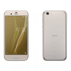 【SIMロック解除済】au AQUOS R SHV39 LIGHT GOLD