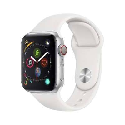 イオシス|Apple Watch Series4 GPS + Cellularモデル 40mm MTVA2J/A 【シルバーアルミニウム/ホワイトスポーツバンド】