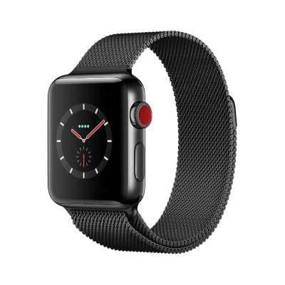 イオシス|Apple Watch Series3 38mm GPS+Cellularモデル MR1Q2J/A A1889【スペースブラックステンレススチールケース/スペースブラックミラネーゼループ】
